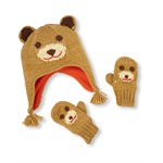 The Children's Place Boys Bear hat And Mitten Beanie Hat