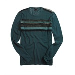 Alfani Mens Lightweight Crew-neck Stripe Knit Sweater