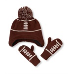 The Children's Place Boys Football Hat And Mitten Beanie Hat