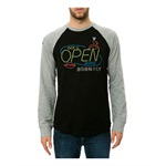 Born Fly Mens The Ragtime Raglan Embellished T-Shirt