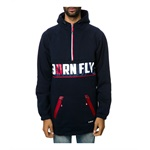 Born Fly Mens The Rango Fleece Parka Hoodie Sweatshirt