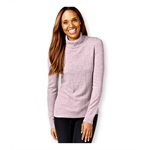 Karen Scott Womens Cable Knit Mock Pullover Sweater