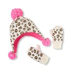 The Children's Place Girls Animal Print Set Beanie Hat