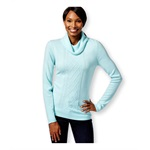 Karen Scott Womens LS Turtleneck Cable Pullover Sweater