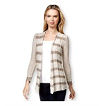 Style&co. Womens Striped Open-Front Cardigan Sweater
