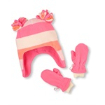 The Children's Place Girls Microfleece Striped Set Beanie Hat