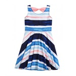 Justice Girls Striped Bowtie Tank Dress