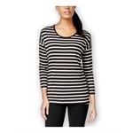 Style&co. Womens Striped Graphic T-Shirt