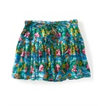 Aeropostale Womens Lined Pleated Floral Mini Skirt