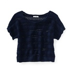 Aeropostale Womens Cropped Ted Knit Sweater