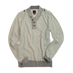 bar III Mens 1/4 Button Up Knit Sweater