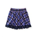 Aeropostale Womens Plaid Lacey Hem Mini Skirt