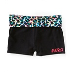 Aeropostale Womens Solid Animal Yoga Athletic Sweat Shorts