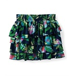 Aeropostale Womens Ruffled Floral Short Tiered Skirt