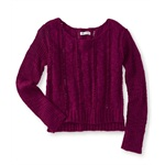 Aeropostale Womens Braided Knit Sweater
