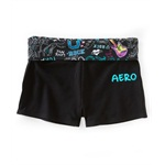 Aeropostale Womens Rocknroll Yoga Stretch Athletic Workout Shorts
