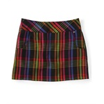 Aeropostale Womens Zipped Back Plaid Woven Mini Skirt