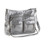 Aeropostale Womens Metallic Crossbody Shoulder Handbag Purse