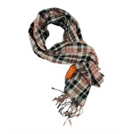 Tallia Womens Talia Sheer Knit Plaid Stripe Wrap Scarf