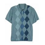 Via Europa Mens Lightweight Argyle Front Rugby Polo Shirt