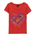 Style&co. Womens Floral Heart Graphic T-Shirt