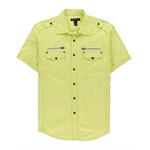 I-N-C Mens Quad Pocket Button Up Shirt