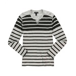 I-N-C Mens Striped Embellished T-Shirt