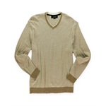Tasso Elba Mens Knit V Neck Pullover Sweater