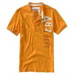Aeropostale Mens Solid A87 Raised On Front Henley Shirt
