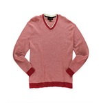 Tasso Elba Mens Two Tone Knit Pullover Sweater
