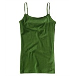 Aeropostale Womens Solid Color Spaghetti Strap Tank Top