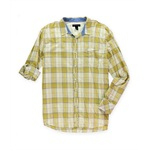 I-N-C Mens Plaid Western Button Up Shirt