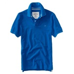 Aeropostale Mens Solid A87 Uniform Logo Rugby Polo Shirt