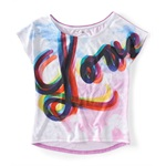 Aeropostale Womens Love Graphic T-Shirt