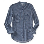 Aeropostale Womens LS Pocket Button Up Shirt