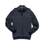 Tasso Elba Mens Tweed 1/4 Zip Pullover Sweater