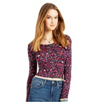 Aeropostale Womens Floral Bodycon Graphic T-Shirt