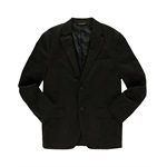 Tasso Elba Mens Microchecked Two Button Blazer Jacket