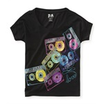 Aeropostale Girls Cassette Graphic T-Shirt
