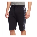 Univibe Mens Floral Mesh Panel Athletic Sweat Shorts