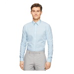 Calvin Klein Mens Fine Check Cord Button Up Shirt