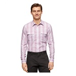 Calvin Klein Mens Slub Ombre Plaid Button Up Shirt