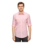 Calvin Klein Mens Textured Slim Fit Button Up Shirt