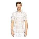 Calvin Klein Mens Beach Plaid Button Up Shirt