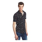 American Rag Mens Ocean City Geo Button Up Shirt