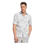 Tasso Elba Mens Deco Paisley Button Up Shirt