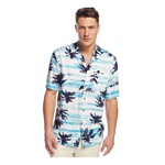 Tasso Elba Mens Palm Print Button Up Shirt