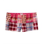 Aeropostale Womens Elastic Band Plaid Sleep Pajama Shorts
