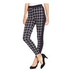 Material Girl Womens Printed Tuxedo Casual Trousers