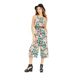 Material Girl Womens Printed Gaucho Jumpsuit